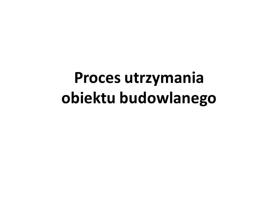Proces utrzymania obiektu budowlanego