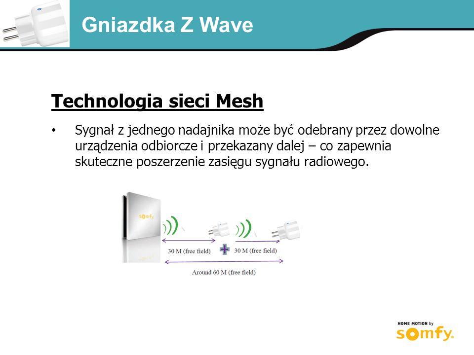 Technologia sieci Mesh Sygnał z jednego nadajnika może być odebrany przez dowolne urządzenia odbiorcze i przekazany dalej – co zapewnia skuteczne poszerzenie zasięgu sygnału radiowego.
