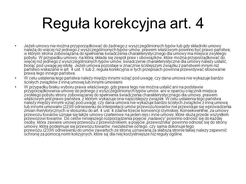 Reguła korekcyjna art.