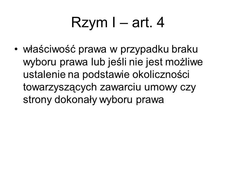 Rzym II Wyjątek od zasady ustanowionej w art.4 ust.