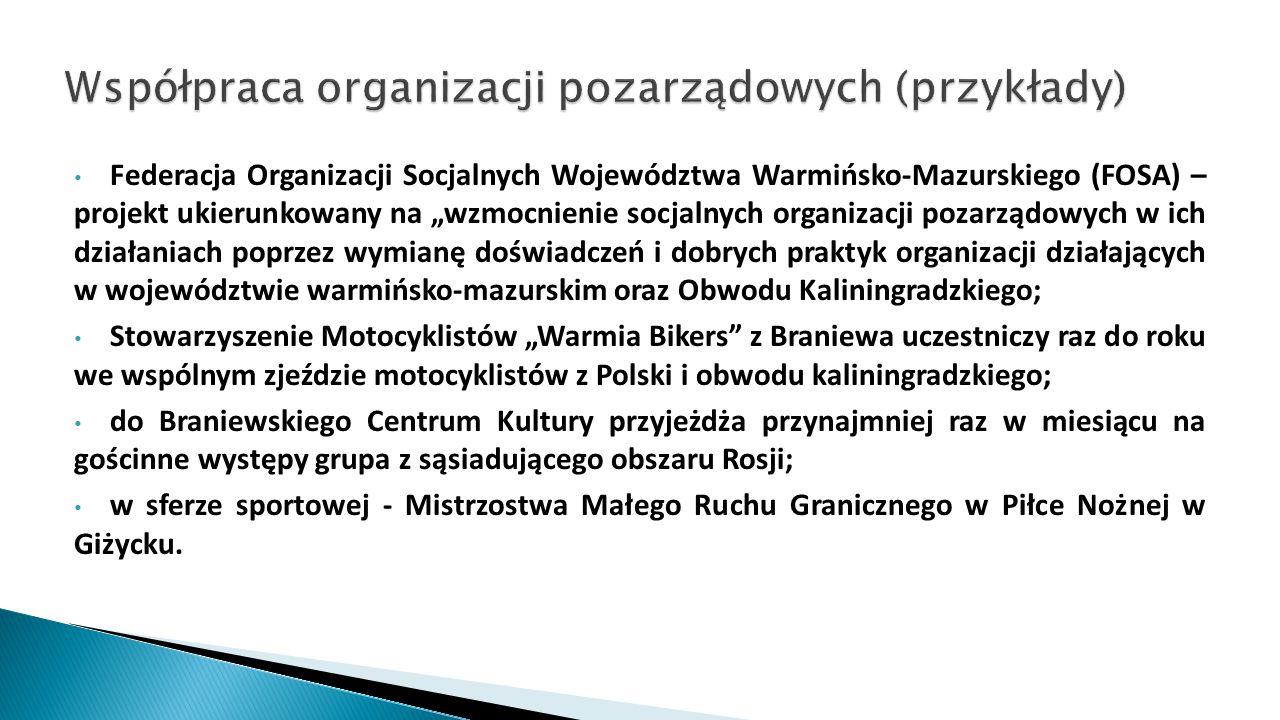 """Federacja Organizacji Socjalnych Województwa Warmińsko-Mazurskiego (FOSA) – projekt ukierunkowany na """"wzmocnienie socjalnych organizacji pozarządowych"""