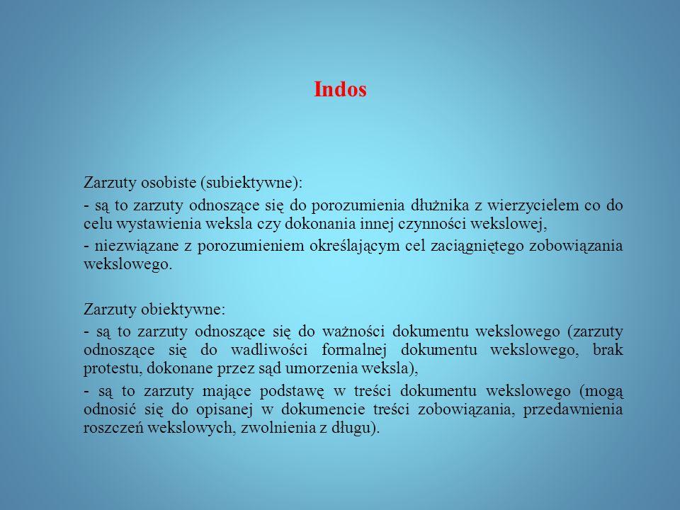 Indos Zarzuty polegające na tym, że osoba domagająca się zapłaty nie nabyła wierzytelności, ponieważ zbywca był nieuprawniony, podlegają regulacji z art.16 ust.