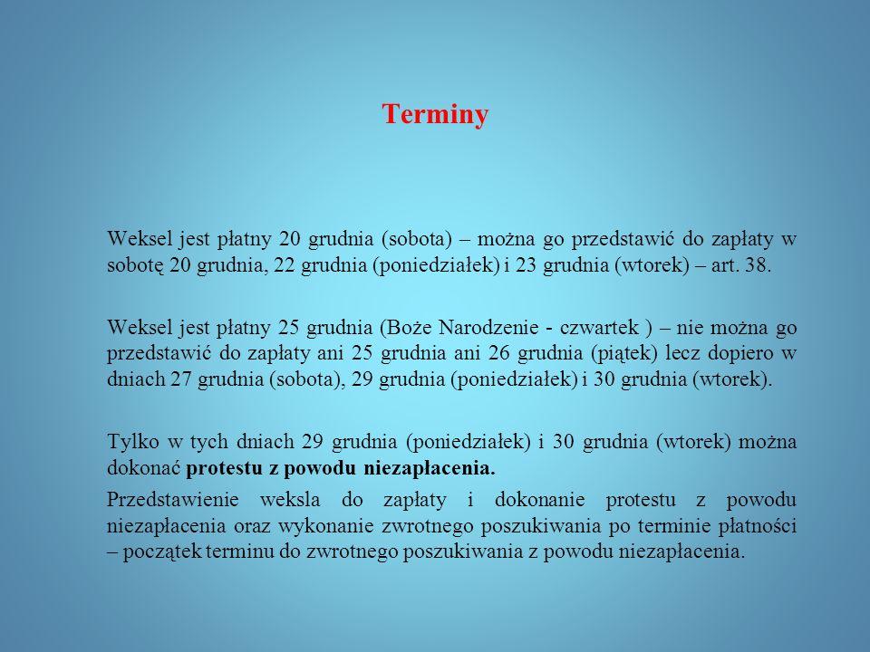 Terminy Termin płatności Art. 72.