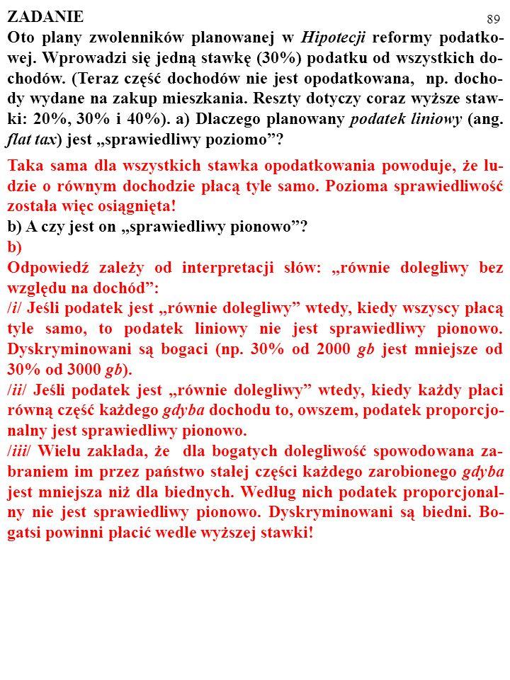 88 ZADANIE Oto plany zwolenników planowanej w Hipotecji reformy podatko- wej.