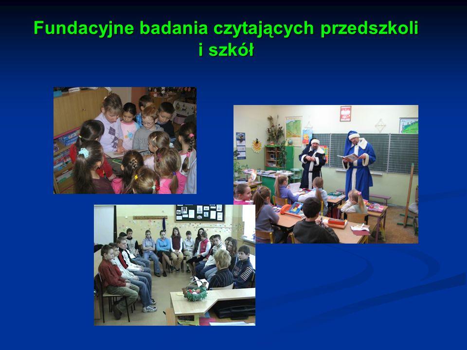 Fundacyjne badania czytających przedszkoli i szkół Fundacyjne badania czytających przedszkoli i szkół