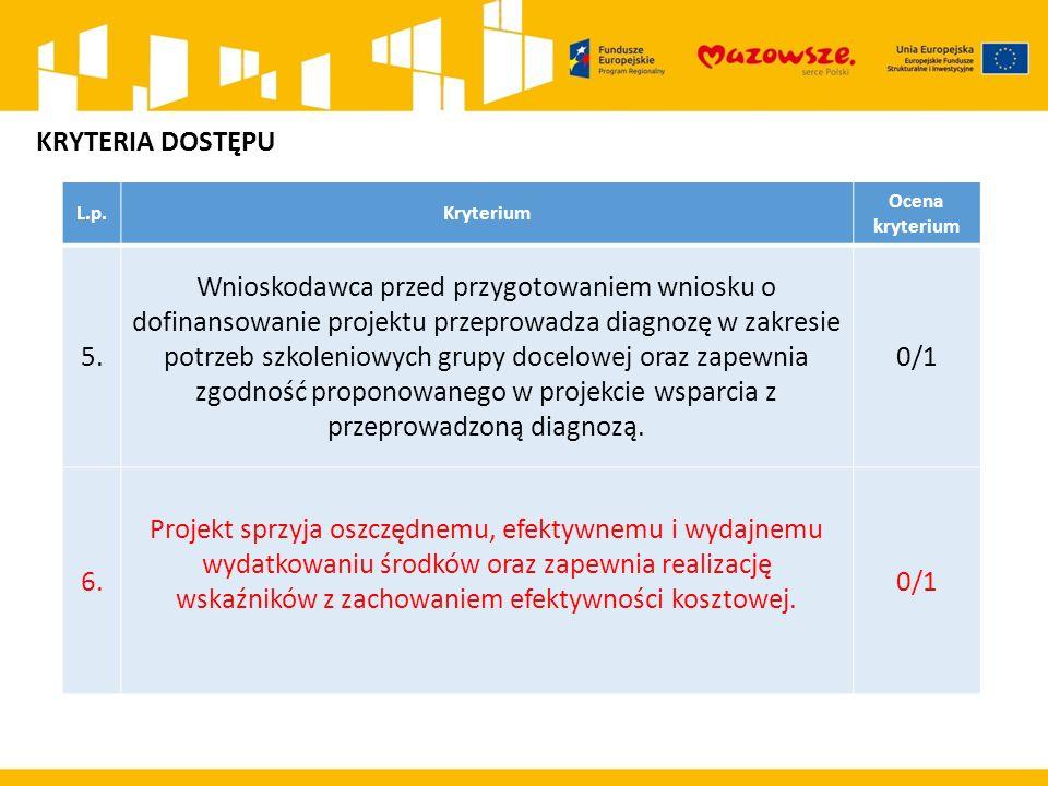L.p.KryteriumPunktacja Maksym alna liczba punktów 1.Projekt jest realizowany w partnerstwie.