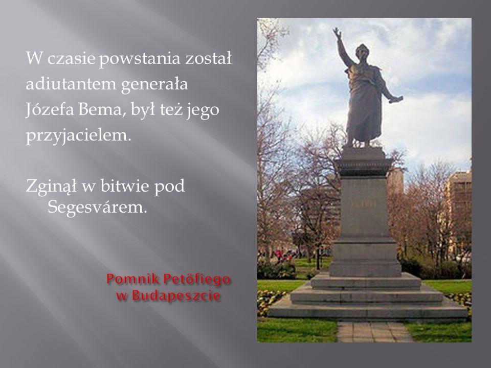 W czasie powstania został adiutantem generała Józefa Bema, był też jego przyjacielem. Zginął w bitwie pod Segesvárem.