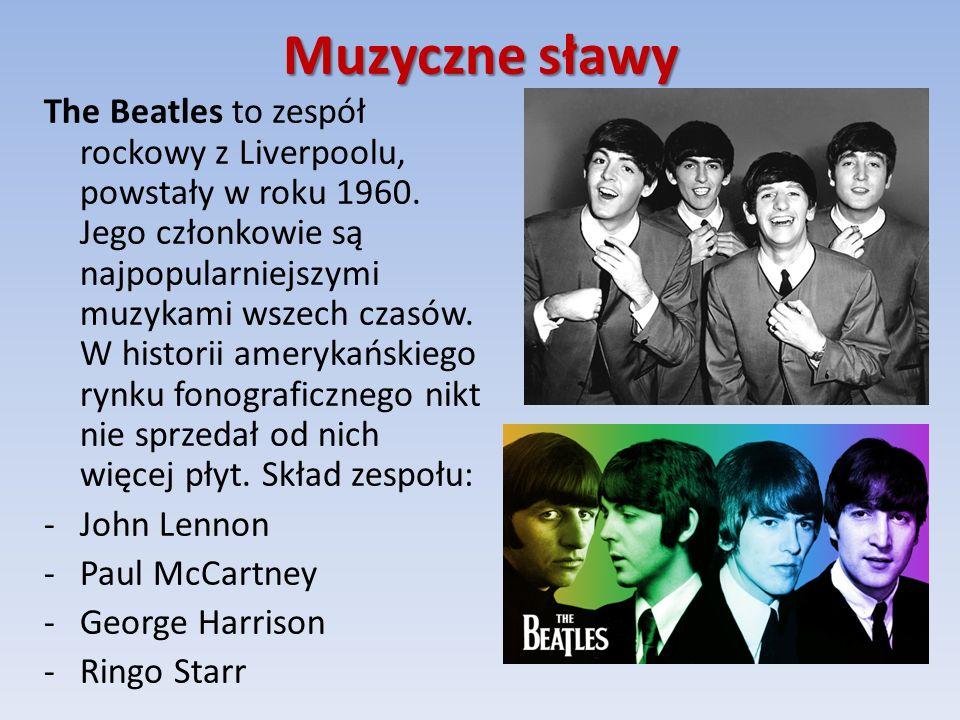 Muzyczne sławy The Beatles to zespół rockowy z Liverpoolu, powstały w roku 1960.