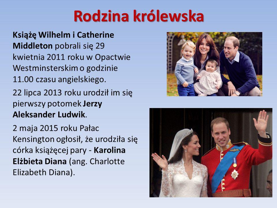 Rodzina królewska Książę Wilhelm i Catherine Middleton pobrali się 29 kwietnia 2011 roku w Opactwie Westminsterskim o godzinie 11.00 czasu angielskiego.