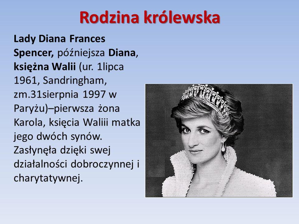 Rodzina królewska Lady Diana Frances Spencer, późniejsza Diana, księżna Walii (ur.