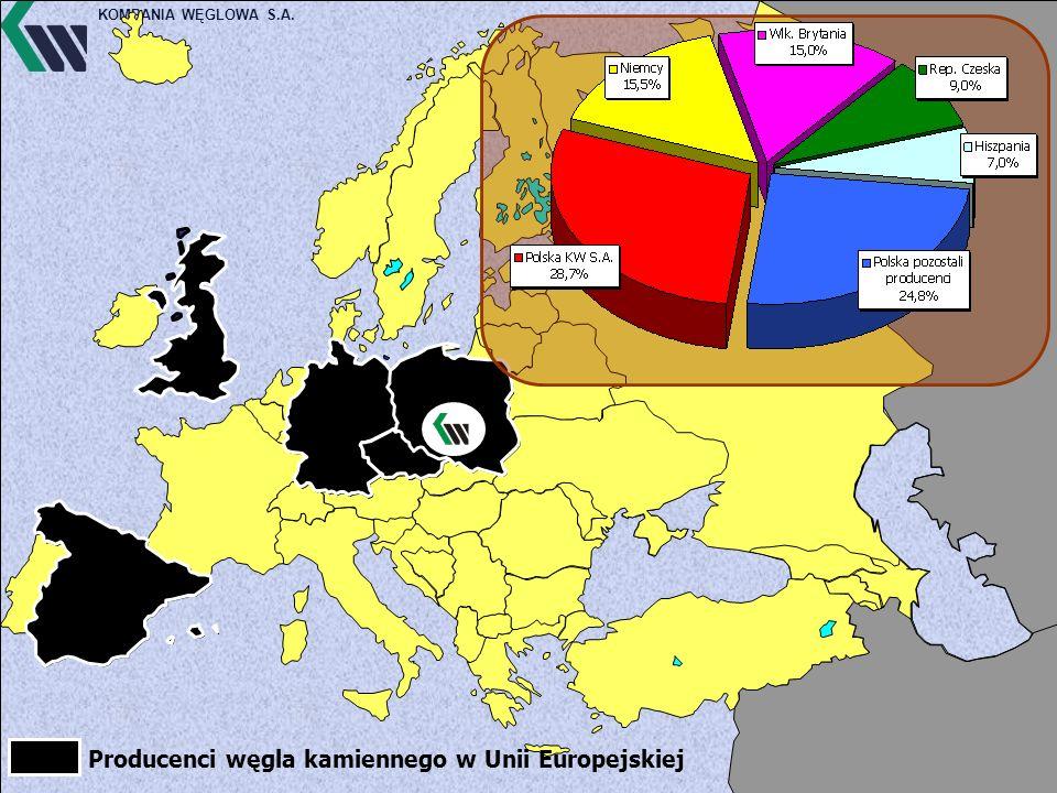 KOMPANIA WĘGLOWA S.A. Producenci węgla kamiennego w Unii Europejskiej