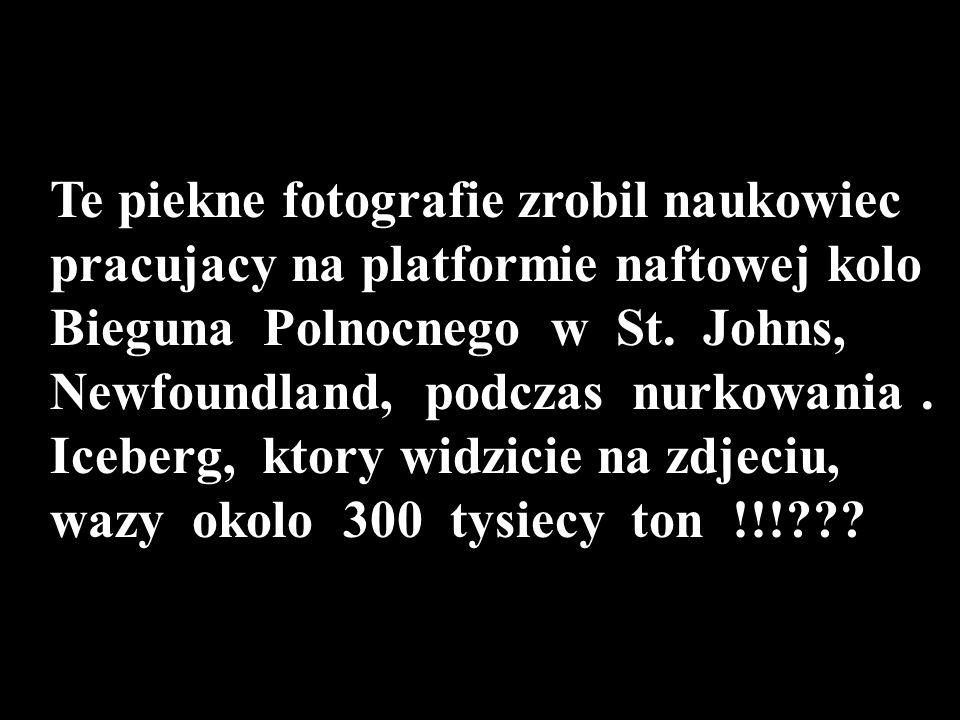 Te piekne fotografie zrobil naukowiec pracujacy na platformie naftowej kolo Bieguna Polnocnego w St.