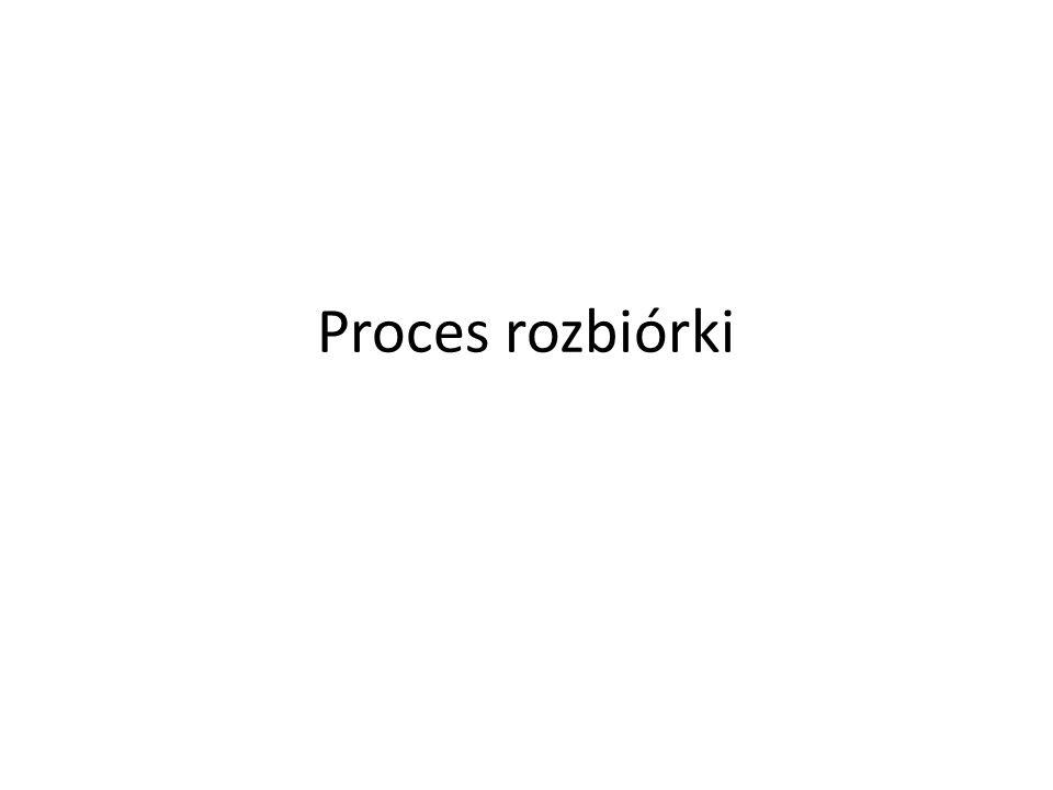 Proces rozbiórki