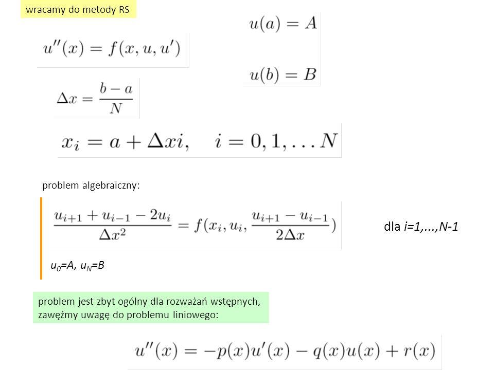 wersja zdyskretyzowana: błąd dyskretyzacji (definicj a ) równanie różniczkowe jego przybliżenie algebraiczne (różnicowe) błąd dyskretyzacji w przypadku równania liniowego: