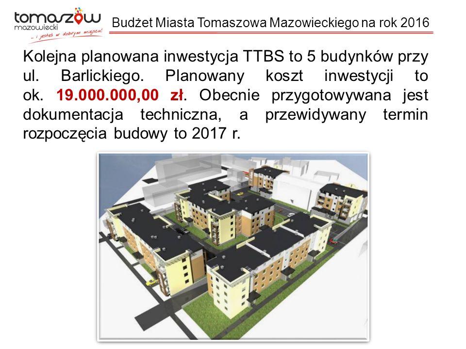 Kolejna planowana inwestycja TTBS to 5 budynków przy ul.