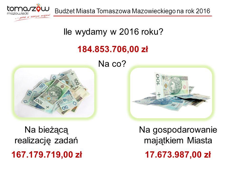 Ile wydamy w 2016 roku.