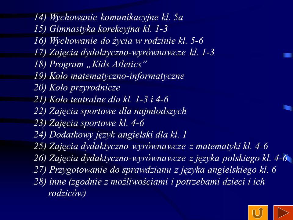 Oferta zajęć pozalekcyjnych: 1) Zajęcia plastyczne klas młodszych 2) Koło Detektywów Łódzkich: kl.
