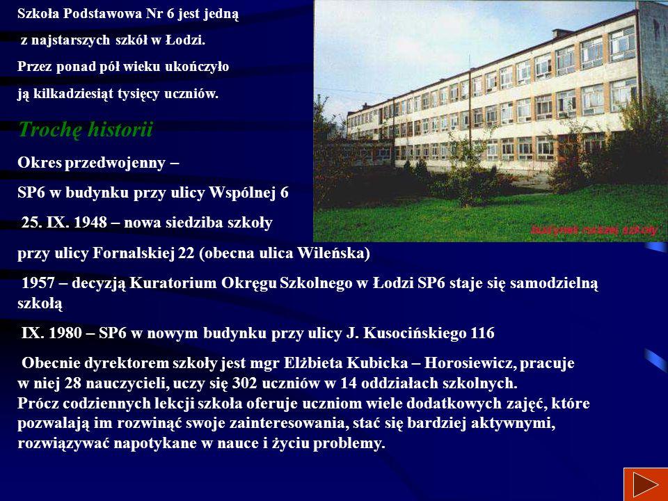 94-054 Łódź, ul. Kusocińskiego 116 retsat1.com.pl/sp6 https://sp6lodz.wordpress.com tel. 42 6867504