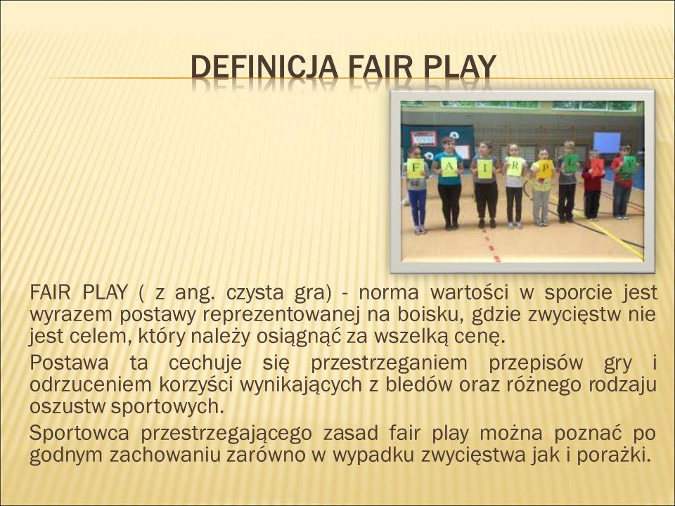 FAIR PLAY ( z ang.
