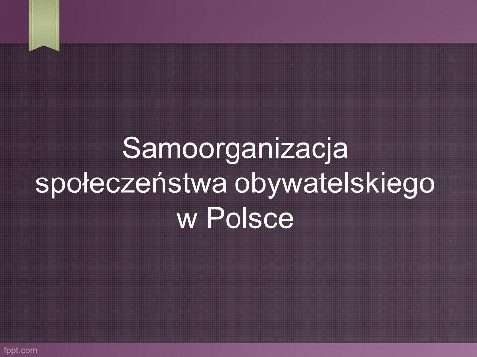 Samoorganizacja społeczeństwa obywatelskiego w Polsce