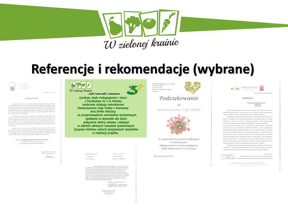 Referencje i rekomendacje (wybrane)