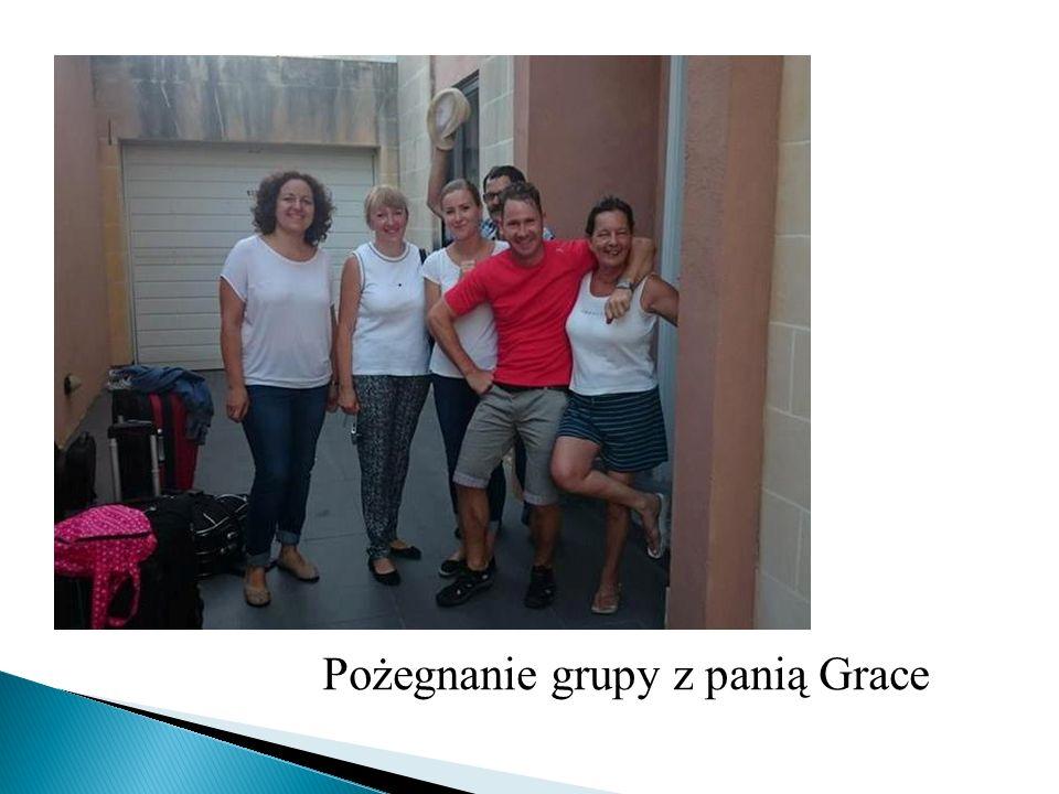 Pożegnanie grupy z panią Grace