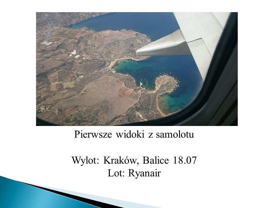 Pierwsze widoki z samolotu Wylot: Kraków, Balice 18.07 Lot: Ryanair
