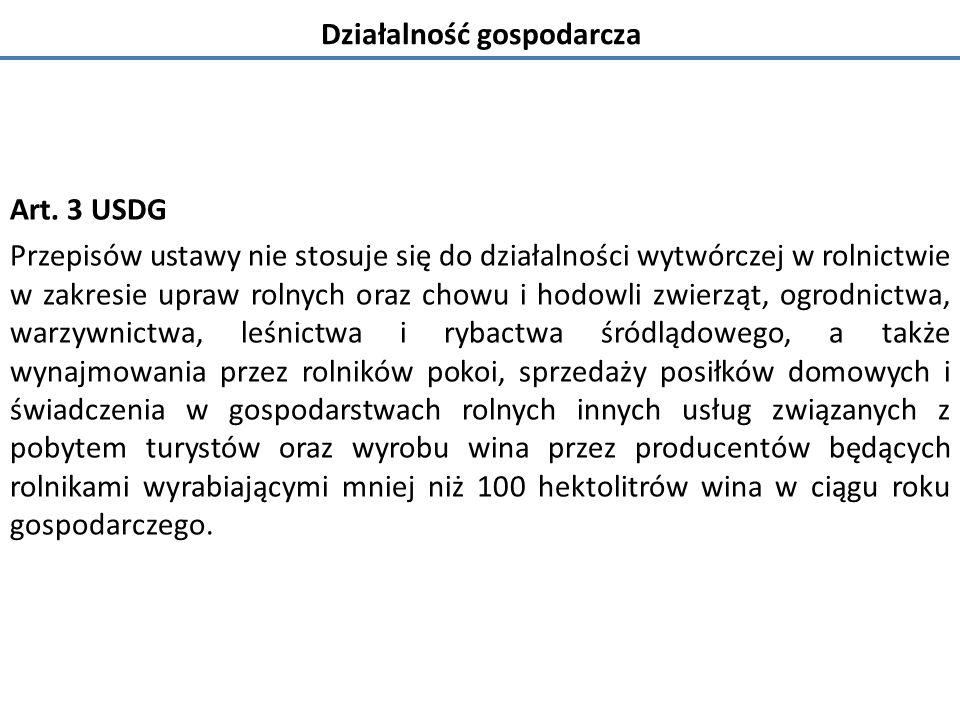 Działalność gospodarcza Art.