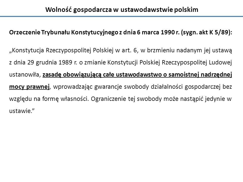 Orzeczenie Trybunału Konstytucyjnego z dnia 6 marca 1990 r.