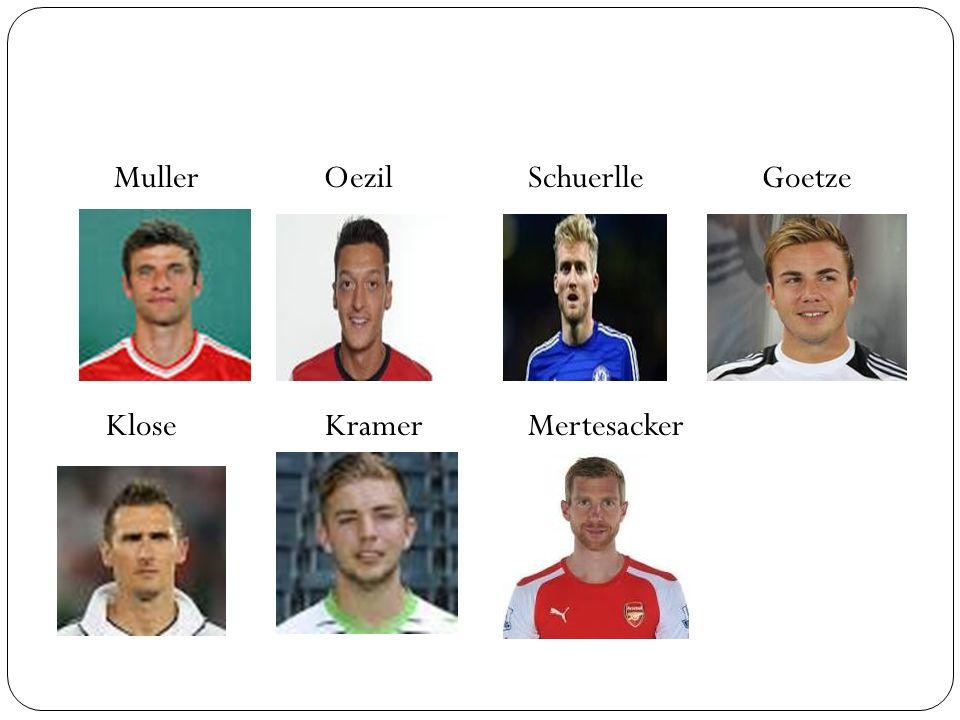 Muller Oezil Klose Kramer Schuerlle Goetze Mertesacker