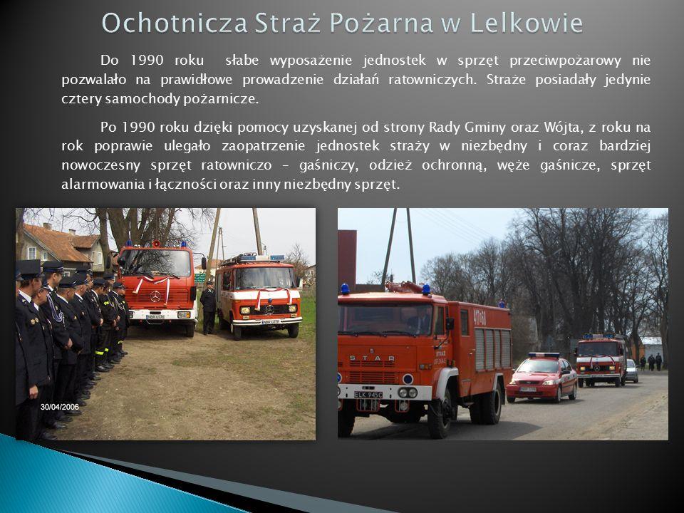 Do 1990 roku słabe wyposażenie jednostek w sprzęt przeciwpożarowy nie pozwalało na prawidłowe prowadzenie działań ratowniczych.