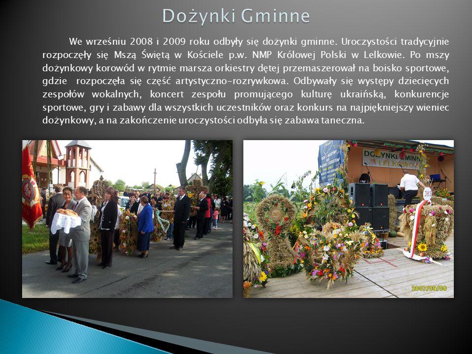 We wrześniu 2008 i 2009 roku odbyły się dożynki gminne.