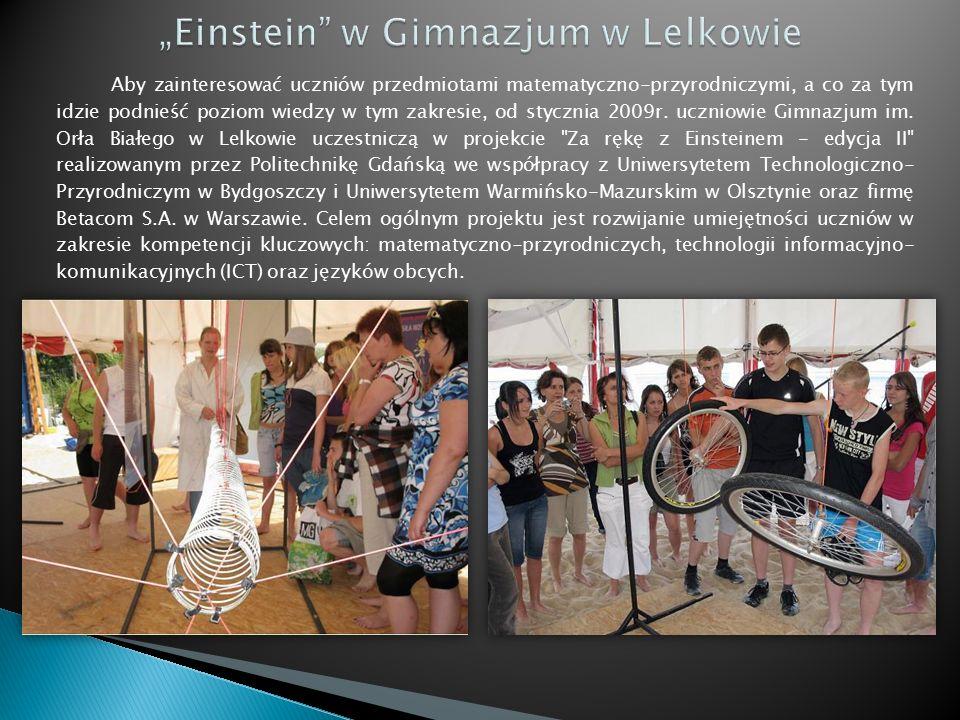 Aby zainteresować uczniów przedmiotami matematyczno-przyrodniczymi, a co za tym idzie podnieść poziom wiedzy w tym zakresie, od stycznia 2009r.