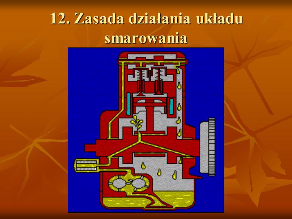12. Zasada działania układu smarowania