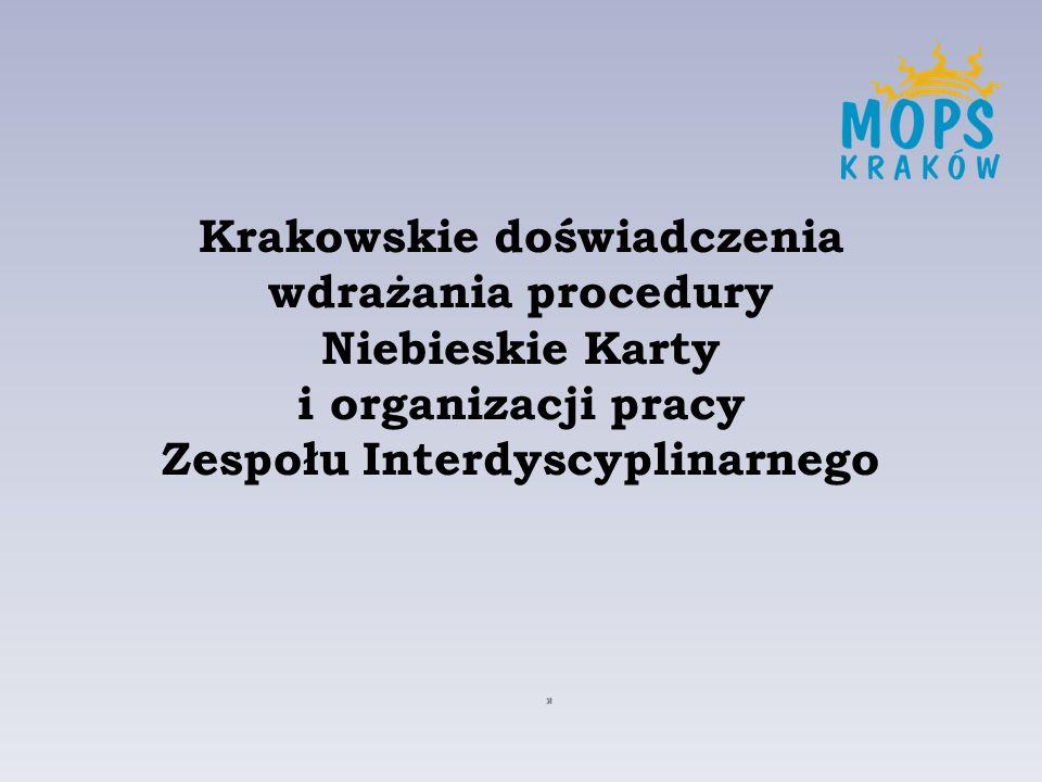 Krakowskie doświadczenia wdrażania procedury Niebieskie Karty i organizacji pracy Zespołu Interdyscyplinarnego