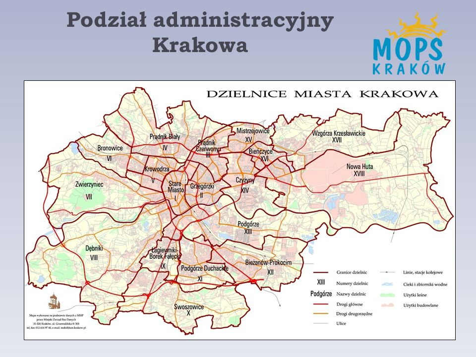 Podział administracyjny Krakowa