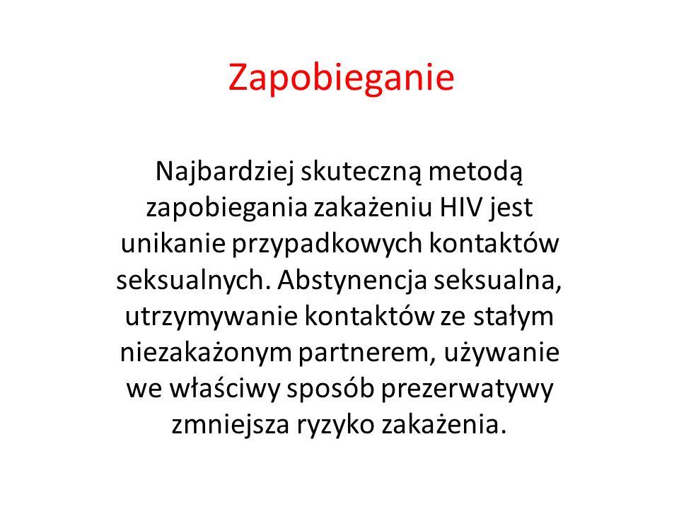 Dane epidemiologiczne - Polska HIV i AIDS w Polsce - dane od początku epidemii (1985 r.) do 31 października 2010 roku 13 264 zakażonych ogółem co najmniej 5 667 zakażonych w związku z używaniem narkotyków 2 413 zachorowań na AIDS 1 044 chorych zmarło