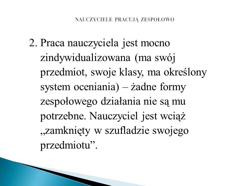 3.Spowalnia procedury rozwiązywania problemów (decyzji).