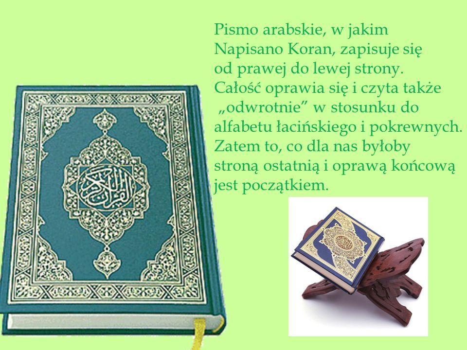 Po lewej Koran w tłumaczeniu na j.polski.