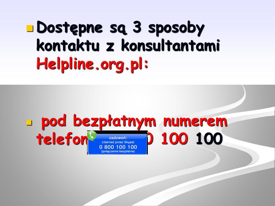 e-mail: helpline@helpline.org.pl e-mail: helpline@helpline.org.pl