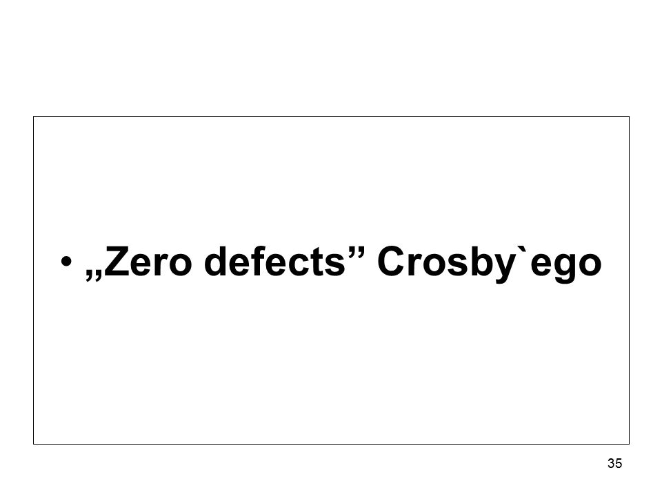 """Zero defects Crosby`ego 35"