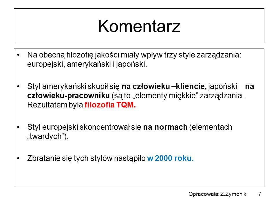 Opracował dr Janusz Zymonik18 Dlaczego nie możemy polegać na kontroli jakości wykonywanej przez kontrolerów ?