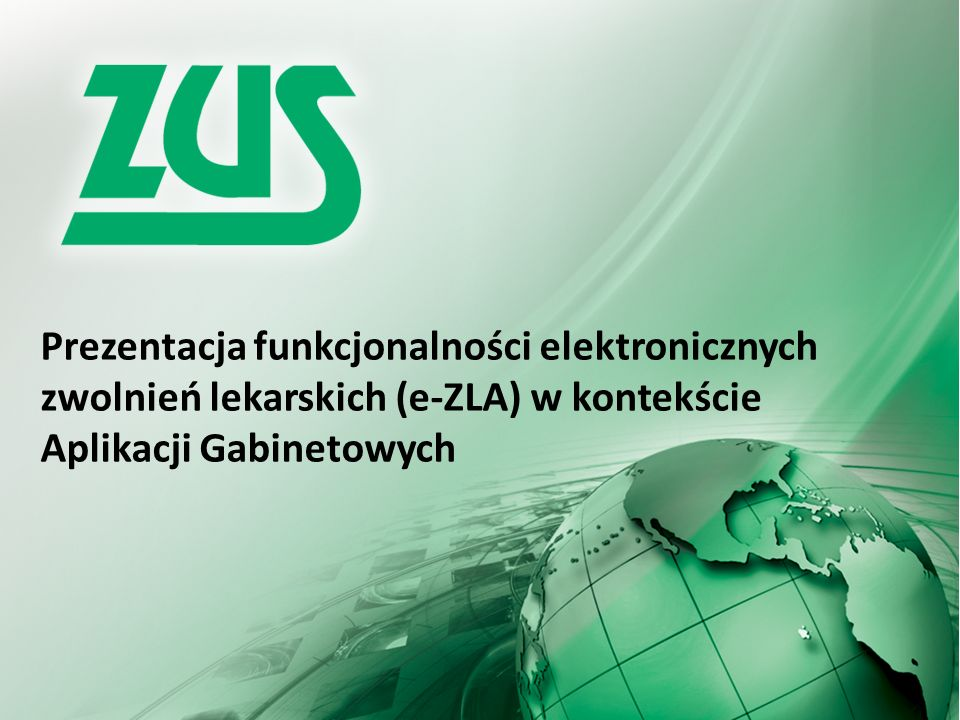 Interfejsy e-ZLA dla Aplikacji Gabinetowych 2 Aplikacje Gabinetowe, czyli systemy informatyczne w medycynie np.