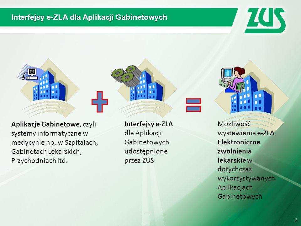Interfejsy e-ZLA dla Aplikacji Gabinetowych 2 Aplikacje Gabinetowe, czyli systemy informatyczne w medycynie np. w Szpitalach, Gabinetach Lekarskich, P