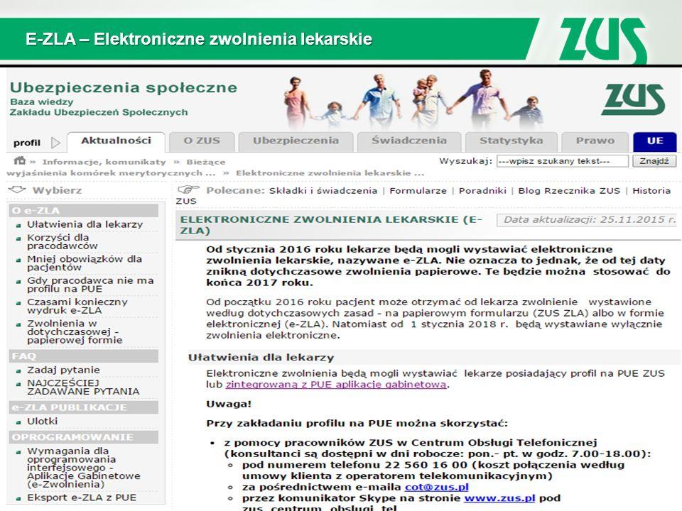 E-ZLA – Elektroniczne zwolnienia lekarskie 3
