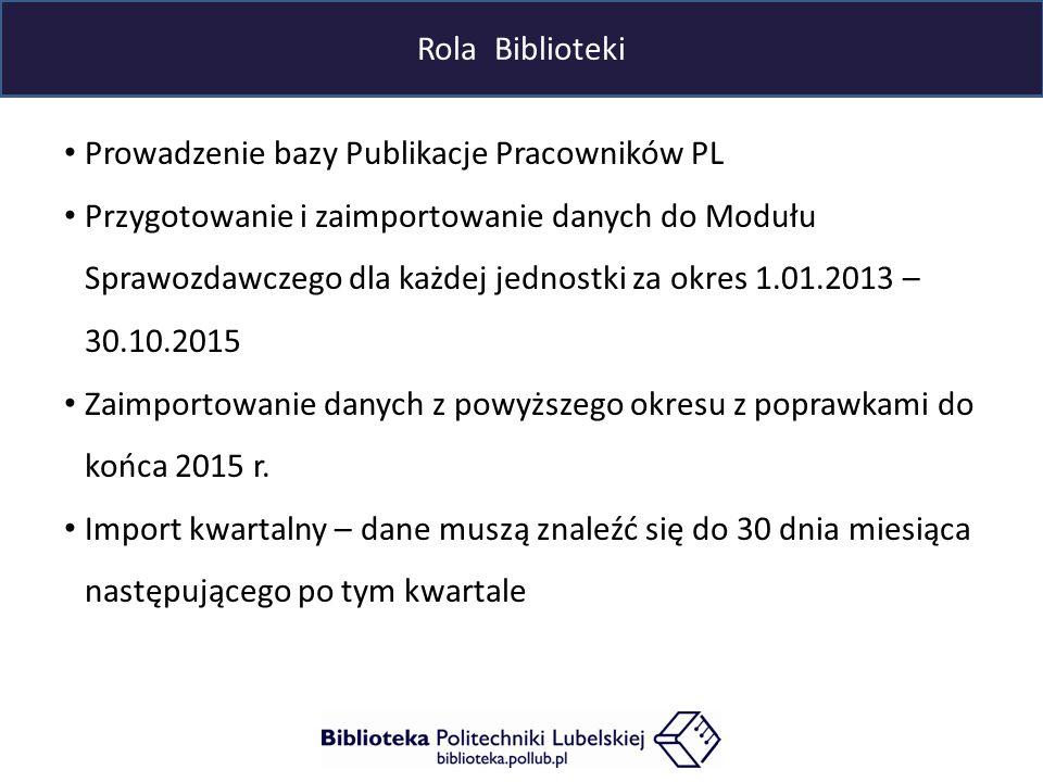 Współpraca biblioteki z wydziałami - propozycje Dane za okres styczeń 2013 – wrzesień 2015 1.