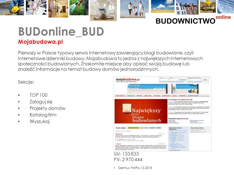 UU: 133 833 PV: 2 970 444 Sekcje: TOP 100 Zaloguj się Projekty domów Katalog firm Wyszukaj Pierwszy w Polsce typowy serwis internetowy zawierający blogi budowlane, czyli internetowe dzienniki budowy.