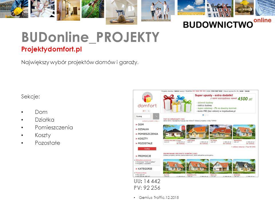 Sekcje: Dom Działka Pomieszczenia Koszty Pozostałe BUDonline_PROJEKTY Projektydomfort.pl Największy wybór projektów domów i garaży.