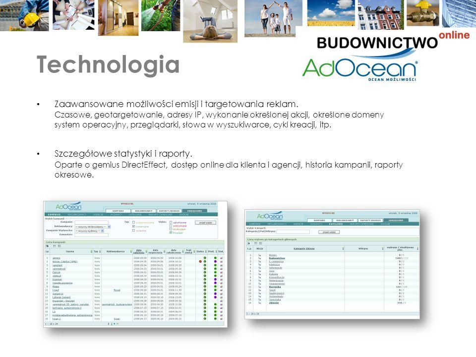 Technologia Zaawansowane możliwości emisji i targetowania reklam.