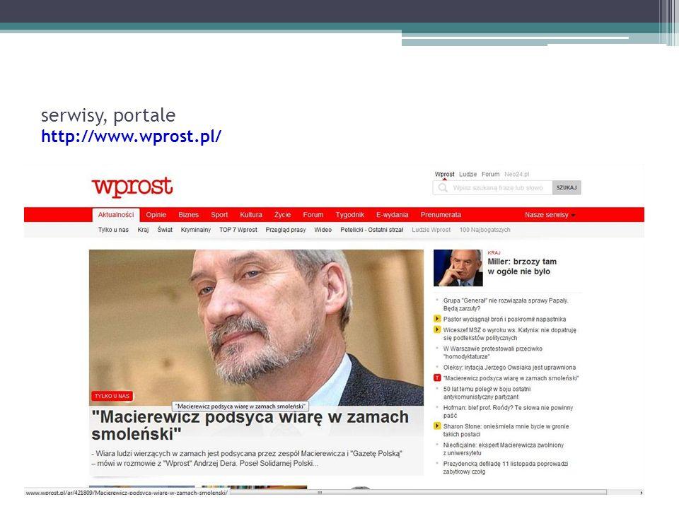serwisy, portale http://www.wprost.pl/